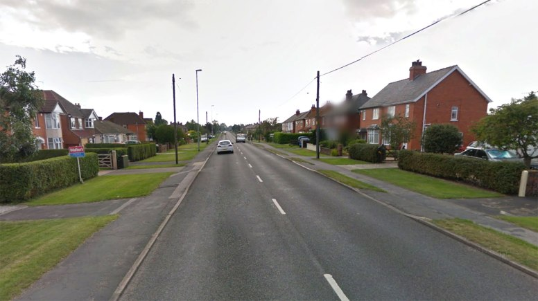 The Land Rover was stolen from outside a property on Lincoln Road in North Hykeham. Photo: Google Street View