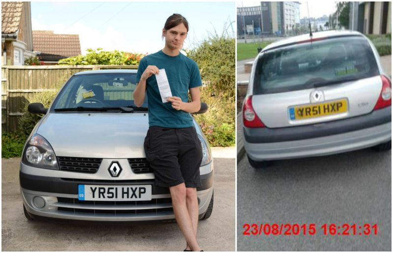 Matt Treacy was issued with a parking ticket on August 22 at the Tritton Retail Park