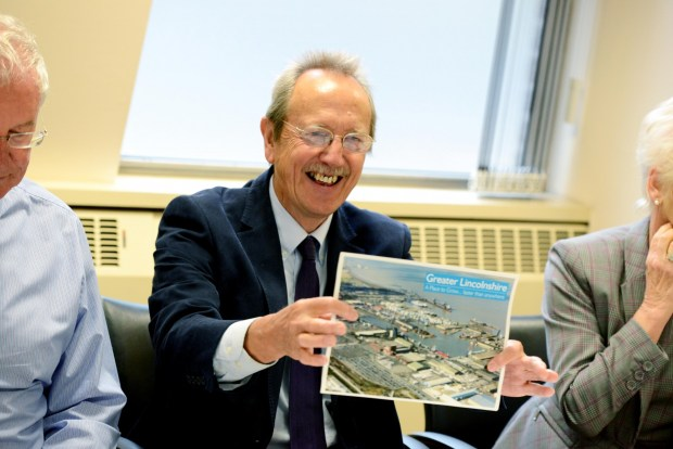 City of Lincoln Council Leader Ric Metcalfe outlines the key features of the proposal at a meeting on Friday, September 4. Photo: Stuart Wilde