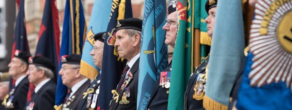 Servicemen, veterans and honoured guests gathered at the war memorial in Lincoln to commemorate the 100th anniversary of the Battle of Loos.
