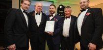Colin Davie, Executive Councillor for Economic Development, Environment, Strategic Planning and Tourism at Lincolnshire County Council presenting the award for Hotel of the Year to Oakland Hall Hotel. Photo: Steve Smailes for The Lincolnite