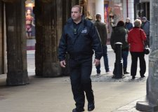Dan Taylor patrolling the streets of Lincoln city centre