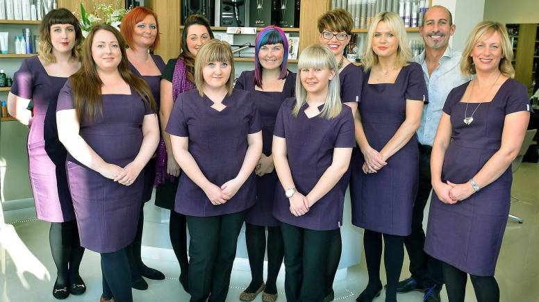 The Hairworks team of staff.
