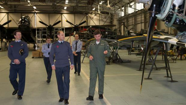 Prince Edward at the Battle of Britain Memorial Flight RAF Coningsby