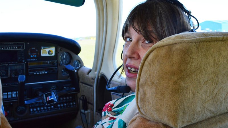 Chrissy King loved her first flight across the skies of Lincolnshire.
