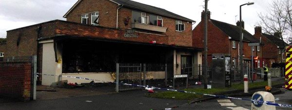 The extent of the fire was revealed in the morning as police cordoned off the blackened shell of the building. Photo: The Lincolnite