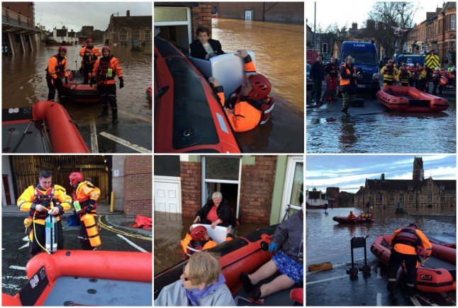 Lincolnshire Fire & Rescue are rescuing hundreds of people affected by flooding in the north of the country.