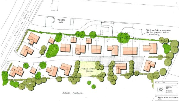 The proposed development of the site. Photo: LK2