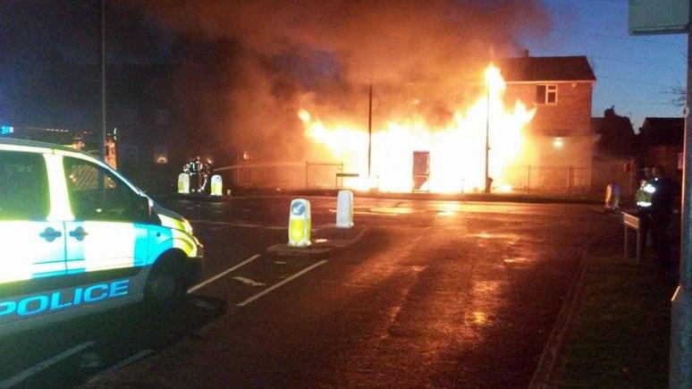The blaze on De Wint Avenue in Lincoln. Photo: Jordan Challis