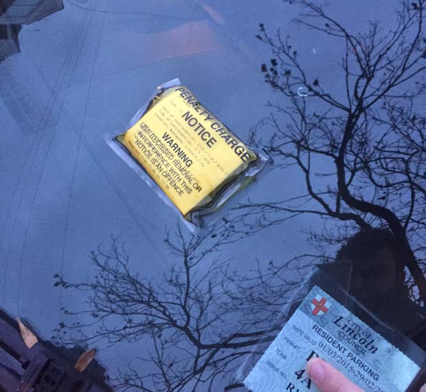 Cars displaying residents permits were also ticketed a day early.