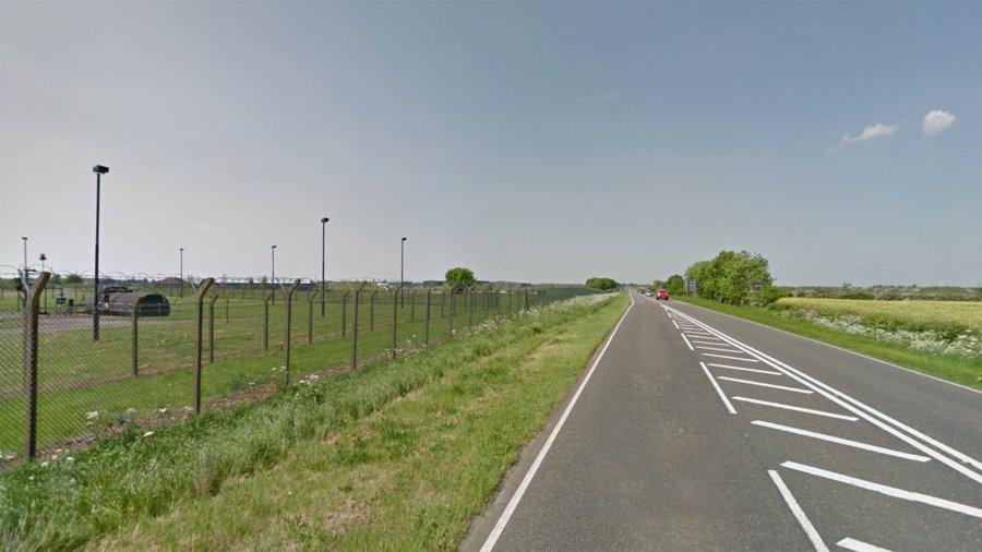 RAF Waddington, heading north on the A15. Photo: Google Street View