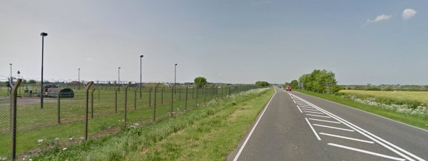 RAF Waddington, heading north on the A15. Photo: Google Street View