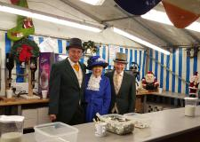 The Lindum-Lincoln Rotary Club at their stall at the 2015 Lincoln Christmas Market