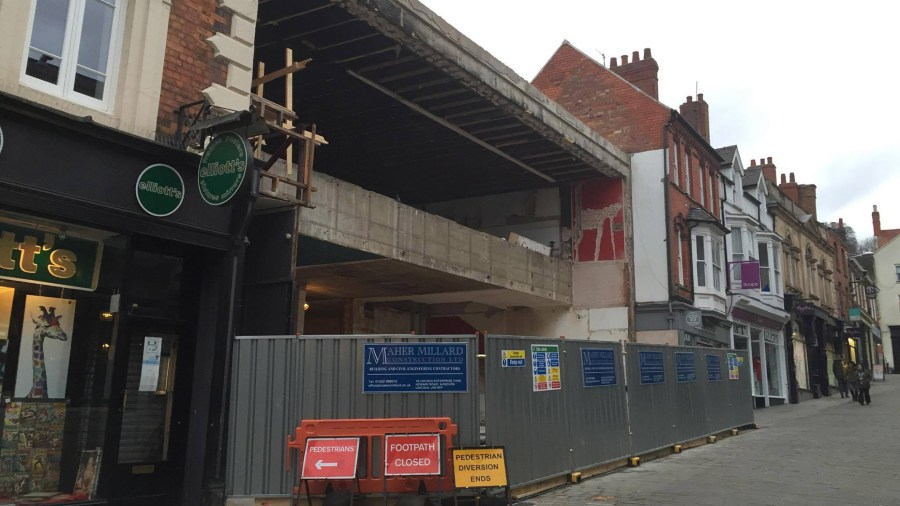 Construction work is currently taking place to turn the former shopping arcade into the new Wildwood restaurant