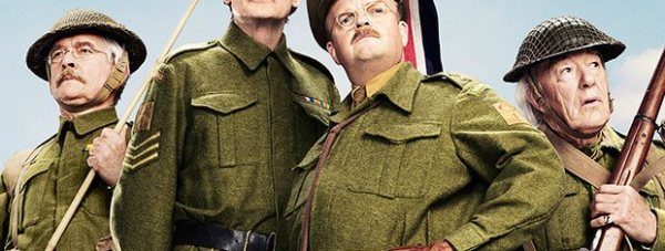 Tom Courtenay, Bill Nighy, Toby Jones and Michael Gambon in Dad's Army. Photo by Universal Pictures.