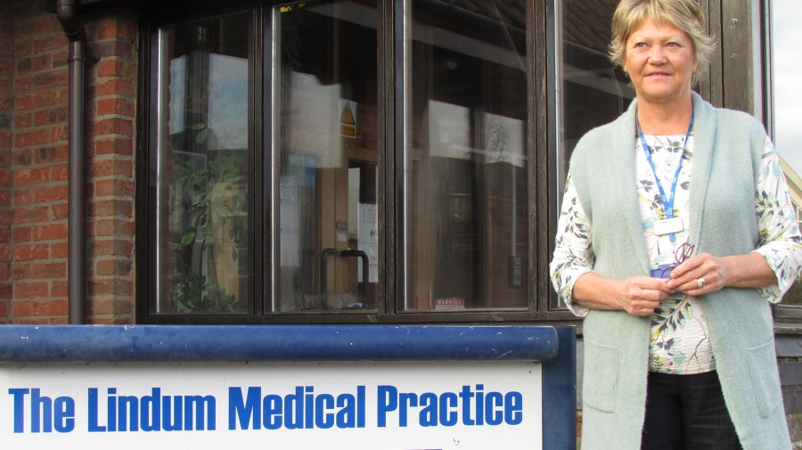 The surgery's business manager, Pauline Mardle.