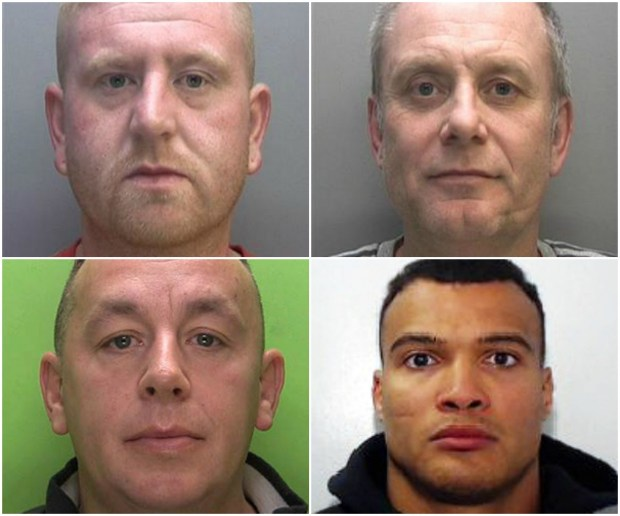 Martin Cooper, James Straw, Tyrone Sly and Luke Smith (left to right, top to bottom)