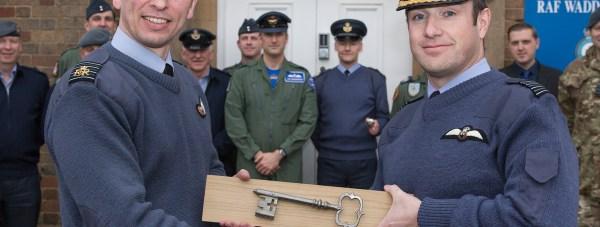Group Captain Barrow (Left) Group Captain Marshall (Right). Photo: Simon Armstrong