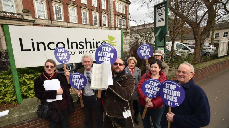David Rimmington holding the signatures of the supporters of his petition. Photo: Steve Smailes for The Lincolnite