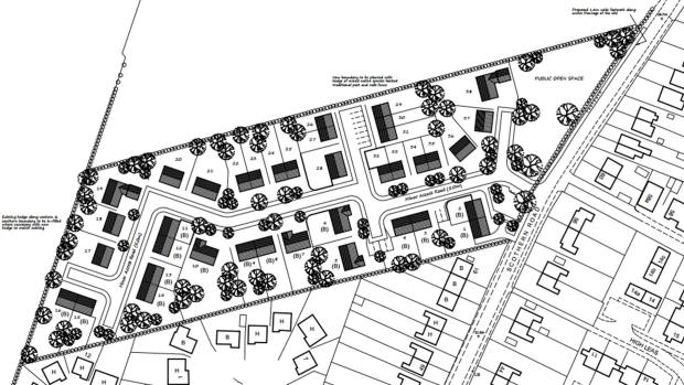 Designs for the proposed new estate