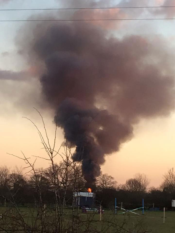 The smoke could be seen form Newark Road in Lincoln. Photo: Robert Morris