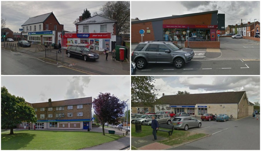 Police are investigating four knife-point robberies which occurred in and around Lincoln in the space of a week.