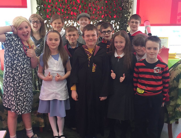 Pupils from Coningsby Primary dressed up for World Book Day.