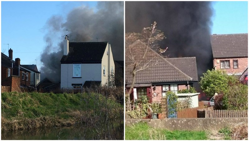 The fire broke out in the Newark Road area of Lincoln.