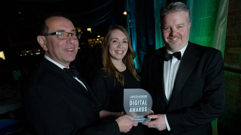 James Pinchbeck, Marketing Partner at Streets Chartered Accountants presented the Digital Business of the Year Award to OrderWise