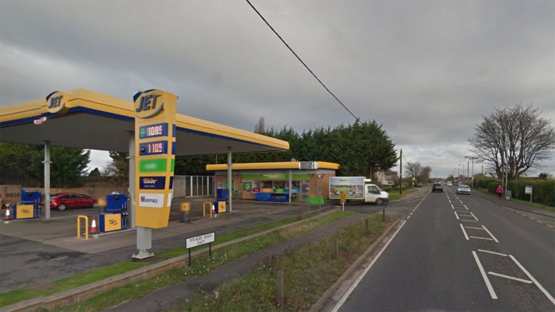 The petrol station in North Greetwell. Photo: Google Street View