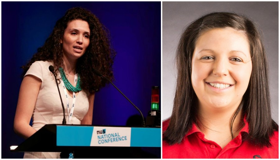 Following the appointment of new NUS president Malia Bouattia (L). ULSU president Hayley Jayne (R) has confirmed Lincoln SU will no longer be affiliated with the NUS.