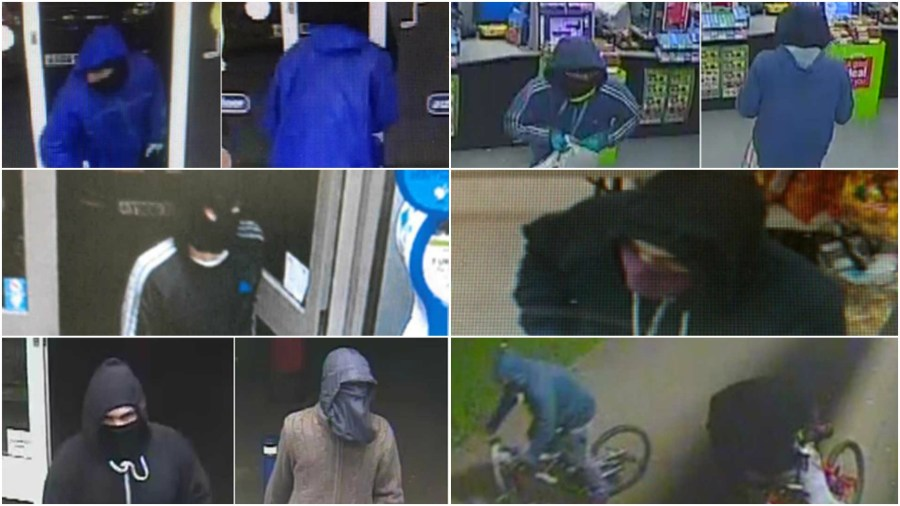 The suspects in the six knife-point robberies at Lincoln convenience stores