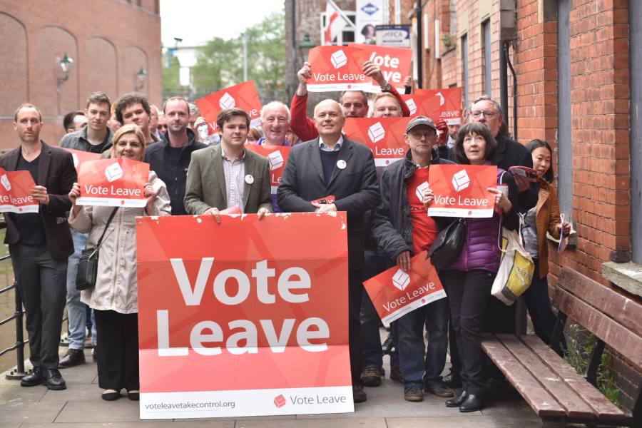 Former leader of the Conservative Party Iain Duncan Smith with the Vote Leave campaign in Lincoln. Photo: Steve Smailes for The Lincolnite