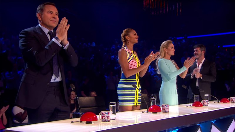 The judges following Lucy and Trip's performance. Screenshot: YouTube