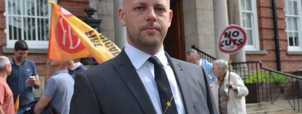 Dan Taylor, brigade secretary of the Lincolnshire Fire Brigades Union. Photo: Stefan Pidluznyj for The Lincolnite