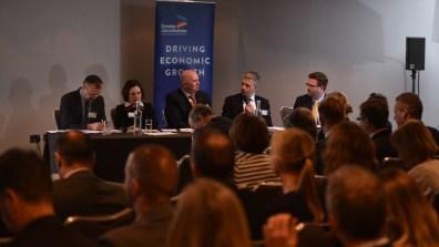 The Midlands Engine debate panel. Photo Steve Smailes
