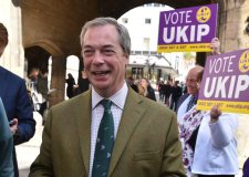 UKIP leader Nigel Farage in Lincoln on May 4. Photo: Steve Smailes for The Lincolnite