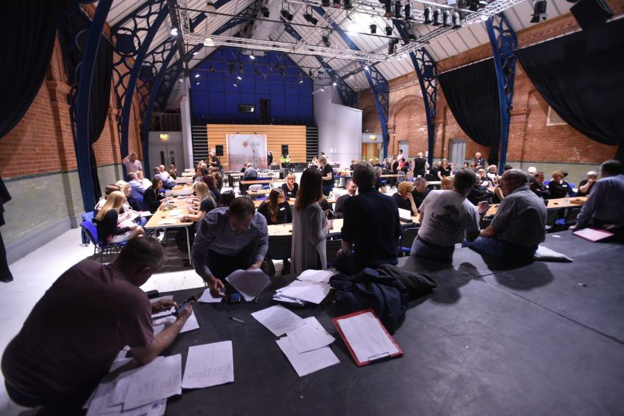 The EU Referendum count at Lincoln Drill Hall. Photo: Steve Smailes for The Lincolnite