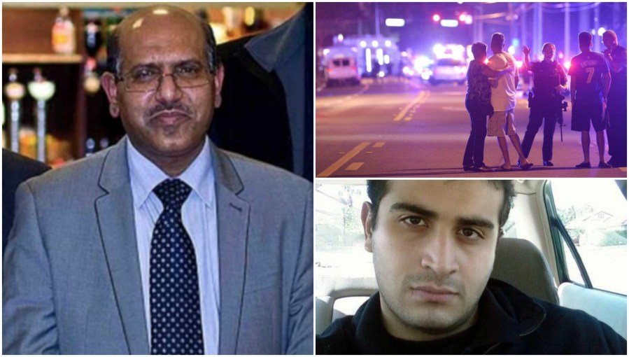 President of the Islamic Association of Lincoln Tanweer Ahmed (Left) condemned the shootings.