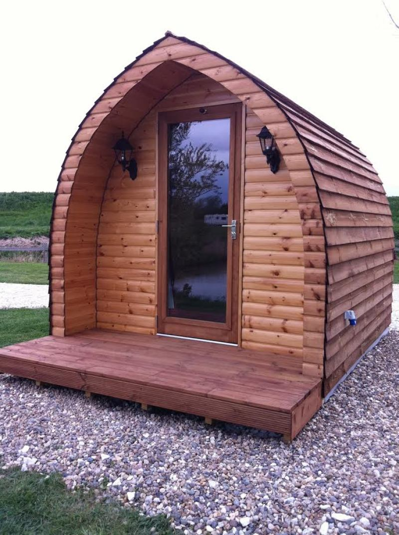 Top of the pods glamping huts pitch up in lincoln for Garden huts for sale