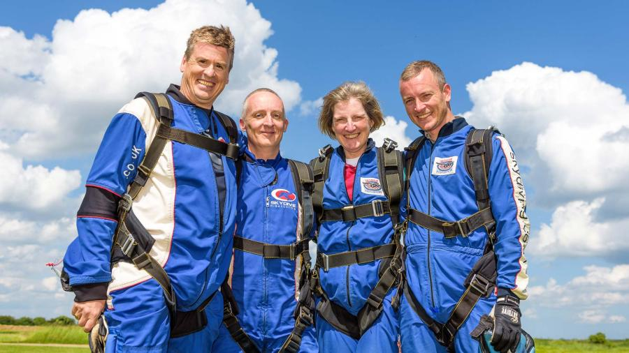 Sir Robert Pattinson Academy teachers: (left to right) Nick Honey, Tony Dickens, Helen Renard and John Griffiths
