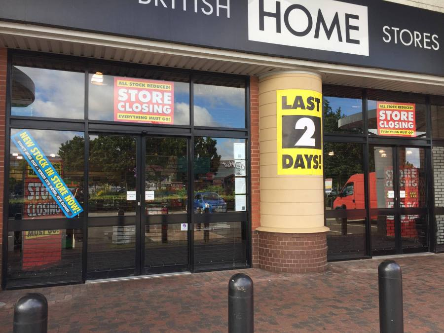 The last trading day of the BHS St Marks store in Lincoln on August 3, 2016. Photo: The Lincolnite
