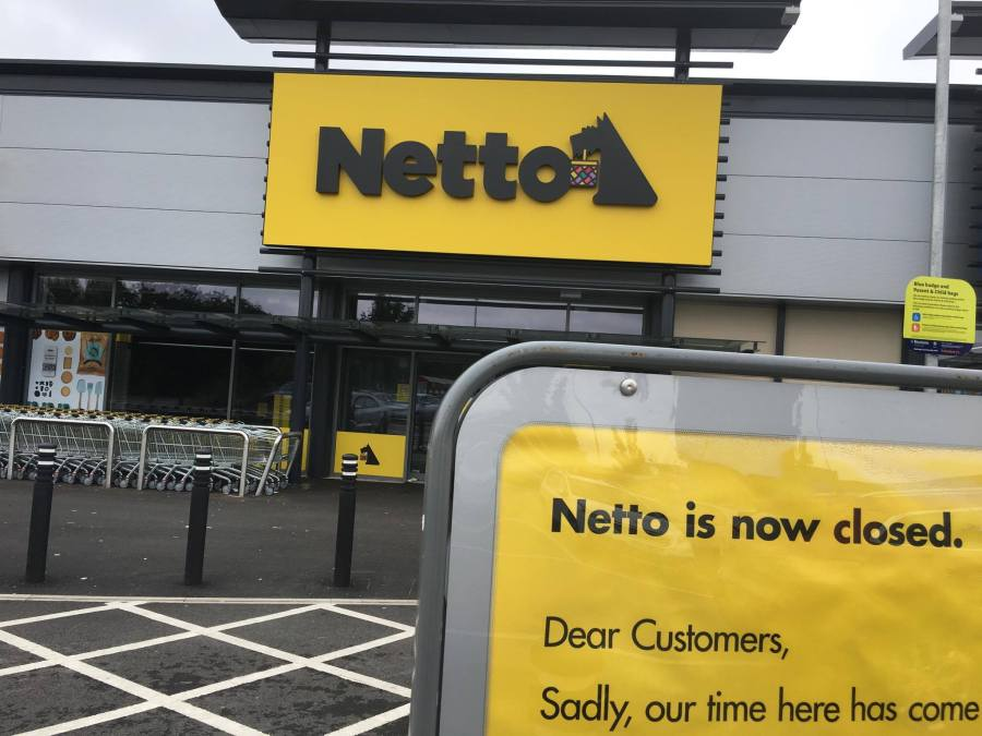 Netto on the Lindis Retail Park, off Tritton Road has closed its doors.