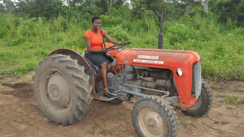 A example of the tractors used to farm the local land,