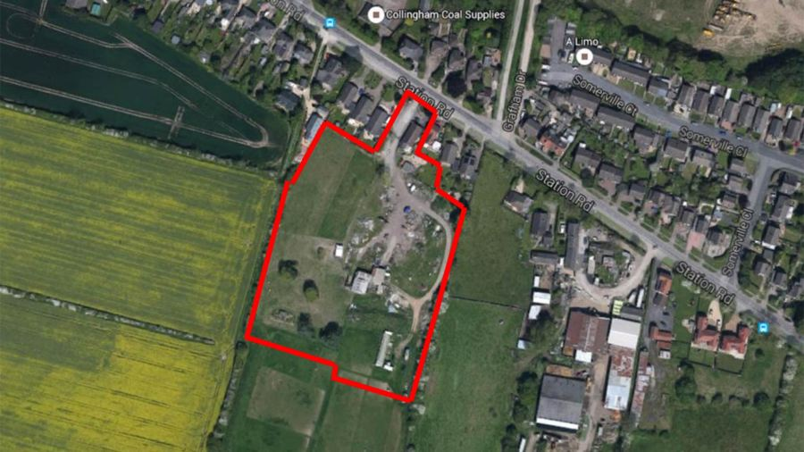 The proposed site for development off Station Road in Waddington. Photo: NKDC
