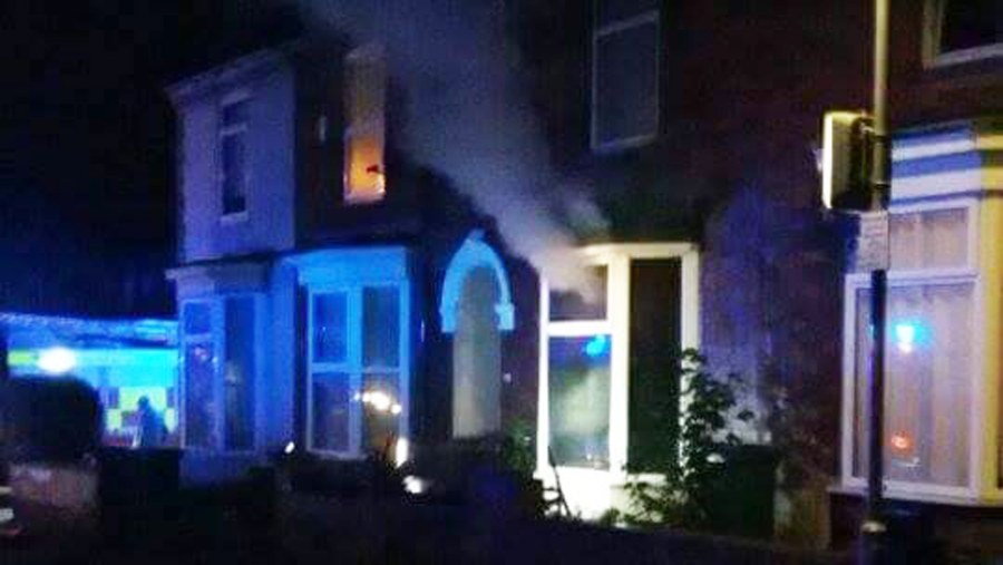 Fire crews were called to a second blaze at a property off Monks Road.