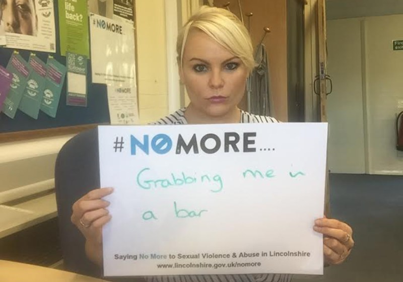 Anyone can take part by tweeting a picture of themselves holding a #NoMore slogan board supporting the aims of the campaign.