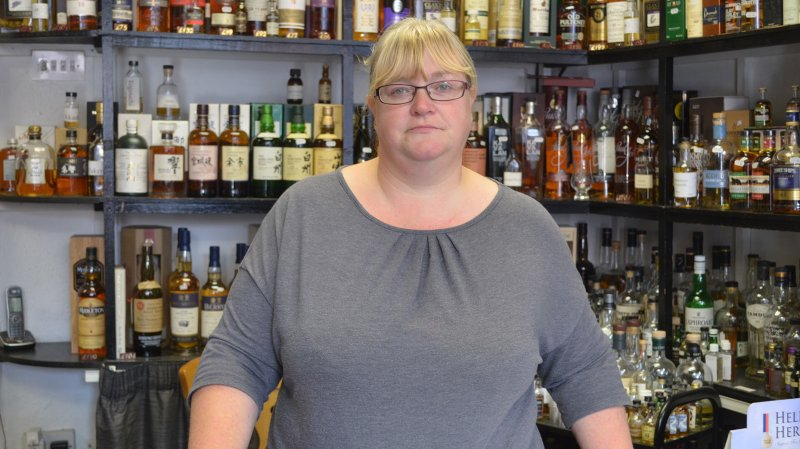 Michelle Williams, sales assistant at The Lincoln Whisky Shop Photo: The Lincolnite