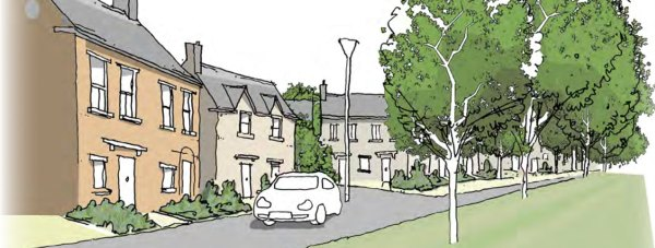 An artist impression of the new development, which will see the area double in size. Photo: NKDC