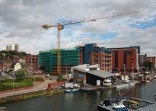Work is well underway on the One the Brayford development on the Brayford Wharf.
